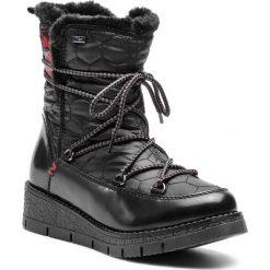 Śniegowce S.OLIVER - 5-26477-31 Black Comb 098. Czarne kozaki damskie S.Oliver, z materiału. Za 299.90 zł.
