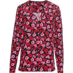 Bluzka z nadrukiem bonprix czarny w kwiaty. Czarne bluzki damskie bonprix, w kwiaty, z dekoltem w serek. Za 74.99 zł.