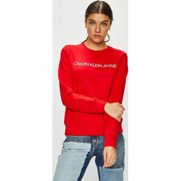 3b268bb3e Calvin Klein Jeans - Bluza - Bluzy damskie Calvin Klein Jeans. W wyprzedaży  za 279.90 zł. - Bluzy damskie - Bluzy i swetry damskie - Odzież damska -  Dla ...