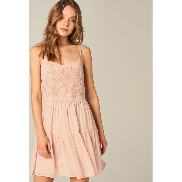 364b1547084625 Sukienka z kwiatowym haftem - Różowy - Sukienki damskie Mohito, z ...