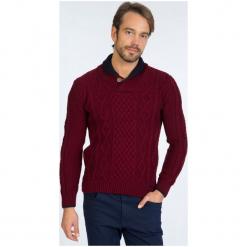 Sir Raymond Tailor Sweter Męski, M, Burgundowy. Czerwone swetry przez głowę męskie Sir Raymond Tailor, z wełny. W wyprzedaży za 199.00 zł.