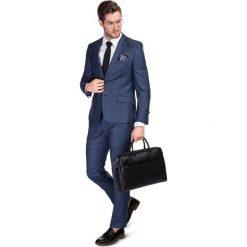Garnitur LEONARDO GXNS900039. Niebieskie garnitury męskie Giacomo Conti, z jedwabiu. Za 1,698.00 zł.