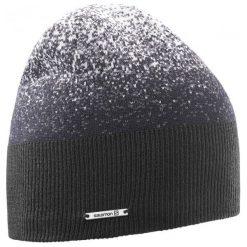 Salomon Czapka Angel Beanie Black/Forged Iron. Czarne czapki i kapelusze damskie Salomon, z polaru. W wyprzedaży za 95.00 zł.