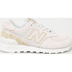 New Balance - Buty WL574NGA. Szare obuwie sportowe damskie New Balance, z materiału. Za 399.90 zł.