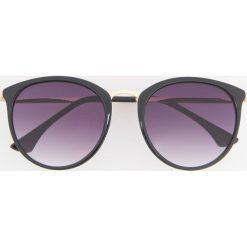 Okulary przeciwsłoneczne - Czarny. Czarne okulary przeciwsłoneczne damskie Reserved. Za 39.99 zł.