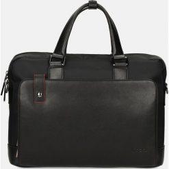 Czarna teczka casual. Czarne torby na laptopa męskie Kazar, w paski. Za 479.00 zł.