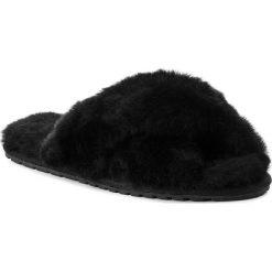 Kapcie EMU AUSTRALIA - Mayberry W11573 Black. Czarne kapcie damskie Emu Australia, ze skóry. Za 259.00 zł.