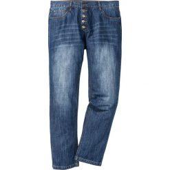 Dżinsy z widocznymi guzikami rozporka Regular Fit Straight bonprix niebieski. Jeansy męskie marki bonprix. Za 59.99 zł.