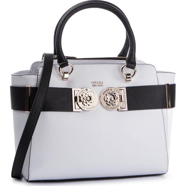 a988a1e077f79 Torebka GUESS - Carina VG741206 WHITE/MULTI - Białe torebki do ręki damskie  marki Guess, z aplikacjami, ze skóry ekologicznej, klasyczne. Za 699.00 zł.
