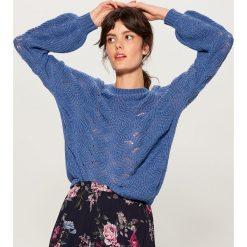 Sweter z domieszką wełny - Niebieski. Niebieskie swetry damskie Mohito, z wełny. Za 129.99 zł.