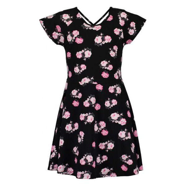 1294367a9e Blue Seven Sukienka Dziewczęca W Kwiaty 176 Czarna - Sukienki dla ...