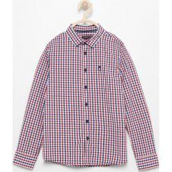 Bawełniana koszula w kratę - Czerwony. Koszule dla chłopców Reserved, z bawełny. Za 119.99 zł.