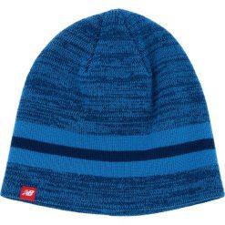 Zestaw Czapka i Rękawiczki NEW BALANCE - 500342 470. Niebieskie czapki i kapelusze damskie New Balance, z materiału. W wyprzedaży za 119.00 zł.