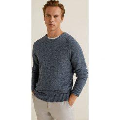 Mango Man - Sweter Toxic. Szare swetry przez głowę męskie Mango Man, z bawełny, z okrągłym kołnierzem. Za 199.90 zł.