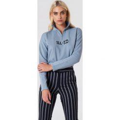 NA-KD Bluza z suwakiem - Blue. Niebieskie bluzy damskie NA-KD, z bawełny. Za 161.95 zł.