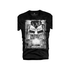 T-shirt UNDERWORLD Organic Cotton Hedonism. Czarne t-shirty męskie Underworld, z nadrukiem, z bawełny. Za 69.99 zł.