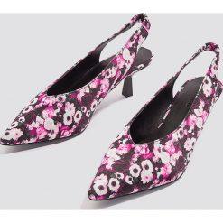 NA-KD Shoes Czółenka na niskim obcasie Plunge - Pink,Multicolor. Czółenka damskie marki bonprix. W wyprzedaży za 48.58 zł.