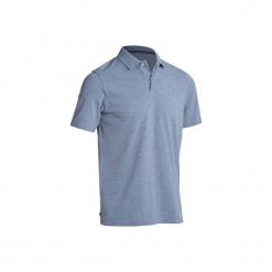 Koszulka polo do golfa 500 męska. Szare koszulki polo męskie INESIS, z bawełny. Za 39.99 zł.