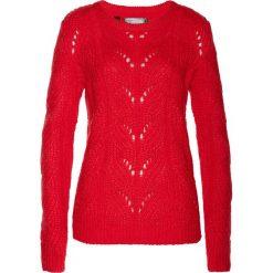 Sweter bonprix truskawkowy. Swetry damskie marki bonprix. Za 69.99 zł.