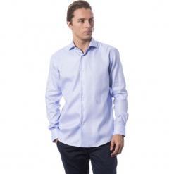 Koszula w kolorze błękitnym. Niebieskie koszule męskie Roberto Cavalli, Trussardi, z klasycznym kołnierzykiem. W wyprzedaży za 329.95 zł.