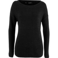 Sweter z dekoltem w łódkę bonprix czarny. Czarne swetry damskie bonprix, z dekoltem w łódkę. Za 54.99 zł.