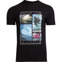 T-shirt męski TSM606 - czarny - Outhorn. Czarne t-shirty męskie Outhorn, na lato, z bawełny. Za 39.99 zł.
