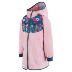 Unuo Płaszcz Dziewczęcy Kwiaty 122/128 Różowy. Czerwone kurtki i płaszcze dla dziewczynek Unuo, w kwiaty. Za 149.00 zł.