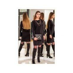 Czarna sukienka z przeszyciem. Czarne sukienki damskie 3 for u, z długim rękawem. Za 189.00 zł.