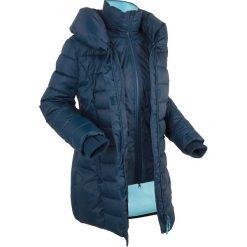 Kurtka outdoorowa 2 w 1, pikowana bonprix ciemnoniebieski. Niebieskie kurtki damskie bonprix. Za 269.99 zł.
