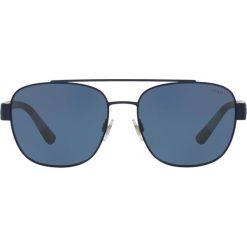 Polo Ralph Lauren - Okulary. Brązowe okulary przeciwsłoneczne męskie Polo Ralph Lauren, z materiału. Za 499.90 zł.