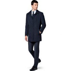 Płaszcz C.Granatowy Bernard. Niebieskie płaszcze męskie LANCERTO, na jesień, z tkaniny, klasyczne. Za 799.90 zł.
