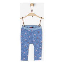 S.Oliver Legginsy Dziewczęce 74 Niebieski. Niebieskie legginsy dla dziewczynek S.Oliver, z jeansu. W wyprzedaży za 45.00 zł.