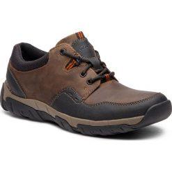 Półbuty CLARKS - WalbeckEdge II 261386577 Brown Leather. Brązowe półbuty na co dzień męskie Clarks, z materiału. W wyprzedaży za 259.00 zł.