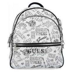 Guess Damski Plecak, Biały. Białe plecaki damskie Guess, z napisami. Za 649.00 zł.