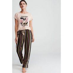 89cc17740cb802 Piżama Disney - Kremowy. Białe piżamy damskie Reserved, l, bez wzorów, bez