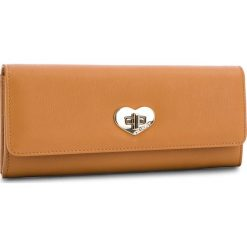 Duży Portfel Damski TWINSET - Portafoglio OS8TFE Cuoio 00057. Brązowe portfele damskie Twinset, ze skóry. W wyprzedaży za 319.00 zł.