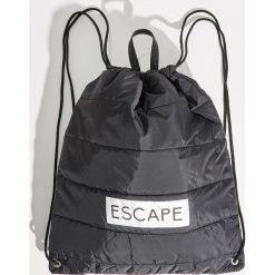 Plecak worek - Czarny. Czarne plecaki damskie Sinsay. Za 39.99 zł.