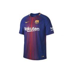 Koszulka krótki rękaw do piłki nożnej Barcelona. Niebieskie t-shirty damskie Nike, z materiału. Za 249.99 zł.