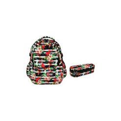 Plecak + saszetka St.Right Tropical Stripes. Szare torby i plecaki dziecięce St-Majewski, z materiału. Za 148.00 zł.