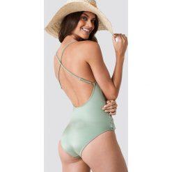 Trendyol Kostium kąpielowy ze skośną falbaną - Green. Zielone kostiumy jednoczęściowe damskie Trendyol. Za 161.95 zł.