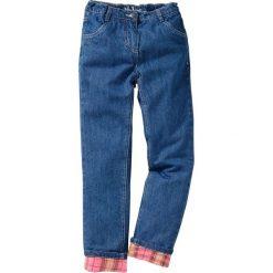"""Spodnie z ciepłą flanelową podszewką bonprix niebieski """"stone"""". Spodnie materiałowe dla chłopców marki Pulp. Za 54.99 zł."""