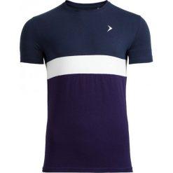 T-shirt męski TSM616 - granatowy melanż - Outhorn. Niebieskie t-shirty męskie Outhorn, na lato, melanż, z bawełny. W wyprzedaży za 29.99 zł.