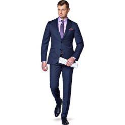 Garnitur Granatowy Lismore. Niebieskie garnitury męskie LANCERTO, z tkaniny. W wyprzedaży za 999.90 zł.