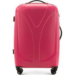 Walizka średnia 56-3P-952-31. Różowe walizki damskie Wittchen, z gumy. Za 319.00 zł.