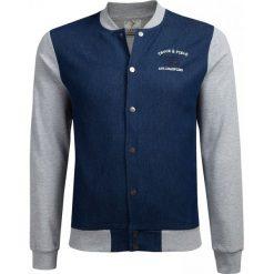 Bluza męska BLM604A - niebieski melanż - Outhorn. Niebieskie bluzy męskie Outhorn, melanż, z bawełny. W wyprzedaży za 119.99 zł.