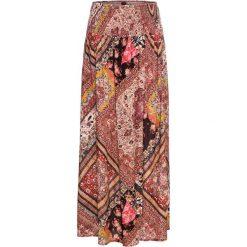 Spódnica kopertowa bonprix beżowy z nadrukiem. Brązowe spódnice damskie bonprix, z nadrukiem. Za 119.99 zł.