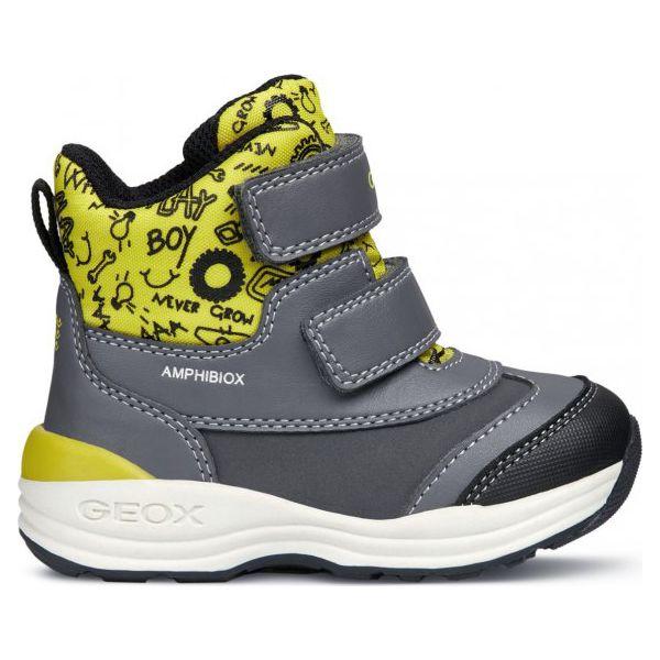 różne wzornictwo całkiem tania niesamowita cena Geox buty zimowe za kostkę chłopięce New Gulp 20 szare