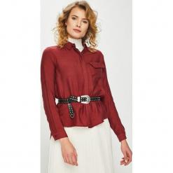Answear - Koszula. Szare koszule damskie ANSWEAR, z bawełny, casualowe, z klasycznym kołnierzykiem, z długim rękawem. Za 119.90 zł.