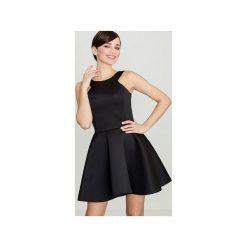 Sukienka K265 Czarny. Czarne sukienki damskie Lenitif. Za 139.00 zł.