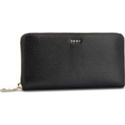 Duży Portfel Damski DKNY - Bryant New Zip Around R8313658 Blk/Gold BGD. Czarne portfele damskie DKNY, ze skóry. Za 549.00 zł.